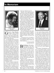 In Memoriam - Audio Engineering Society