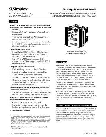 ses simplex control s10020n1 wiring 4090-9001 supervised iam installation instructions - alarm ... simplex 4090 9001 wiring diagram #7