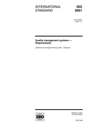 international standard iso 9001 pdf