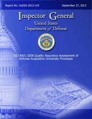 ISO 9001:2008 Quality Assurance Assessment of Defense ...
