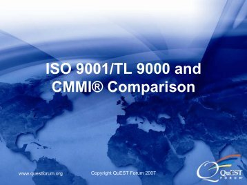ISO 9001/TL 9000 and CMMI® Comparison