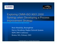 Exploring CMMI-ISO 9001:2000 Synergy When Developing a ...