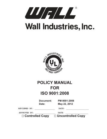 ISO 9001- 2008 Checklist Purchaser not to re-sell or