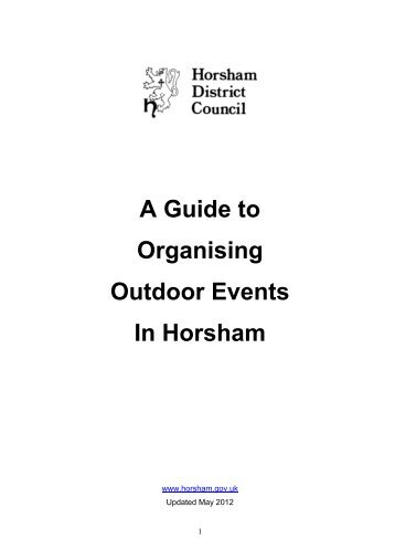 A Guide to Organising Outdoor Events In Horsham