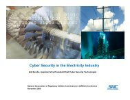 Cyber Security in the Electricity Industry - National Association of ...