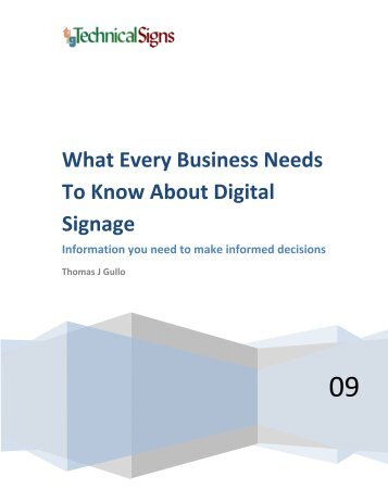 What Every Business Needs To Know About Digital Signage