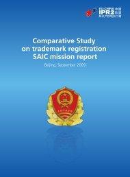 Comparative Study on trademark registration SAIC ... - eu-china ipr2