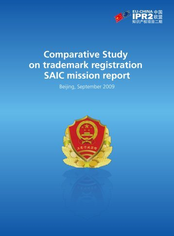 Comparative Study on trademark registration SAIC ... - eu-china ipr2