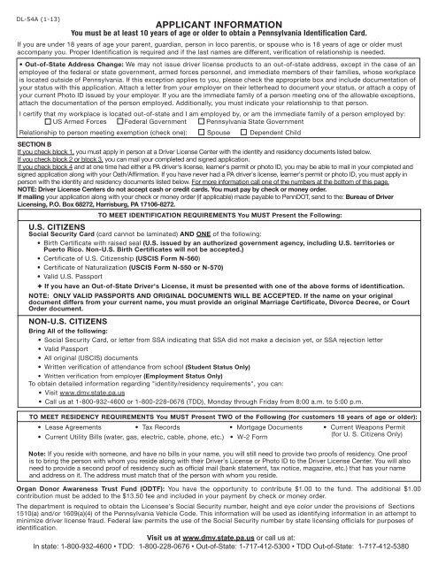 DL-54A (1-13) APPLICANT I