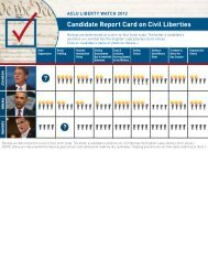 Candidate Report Card on Civil Liberties - ACLU Liberty Watch 2012