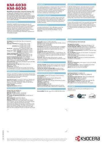 los productos - Copiadoras Importadas Used SA de CV