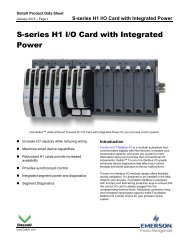 S-series H1 I/O Card with Integrated Power - Emerson Process ...