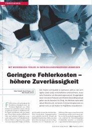 Geringere Fehlerkosten – höhere Zuverlässigkeit - QZ-online.de