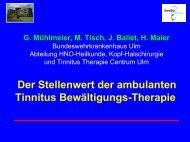 Der Stellenwert der ambulanten Tinnitus Bewältigungs-Therapie