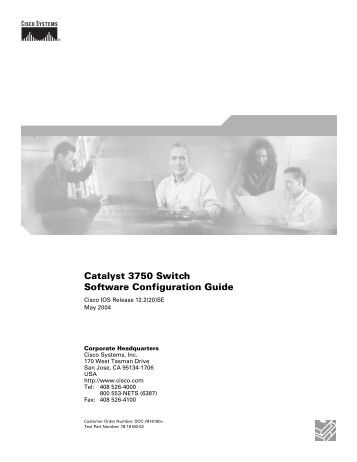 Catalyst 3750 Switch Software Configuration Guide