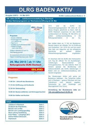 DLRG Baden Aktiv - Ausgabe 2-2013 (pdf, 56