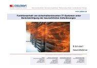 Funktion und Verhalten von Celsion-Gehäusen im Brandfall ...