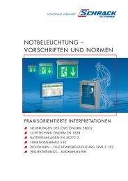 NOTBELEUCHTUNG – VORSCHRIFTEN UND NORMEN - Schrack