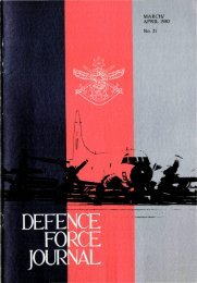 ISSUE 21 : Mar/Apr - 1980 - Australian Defence Force Journal