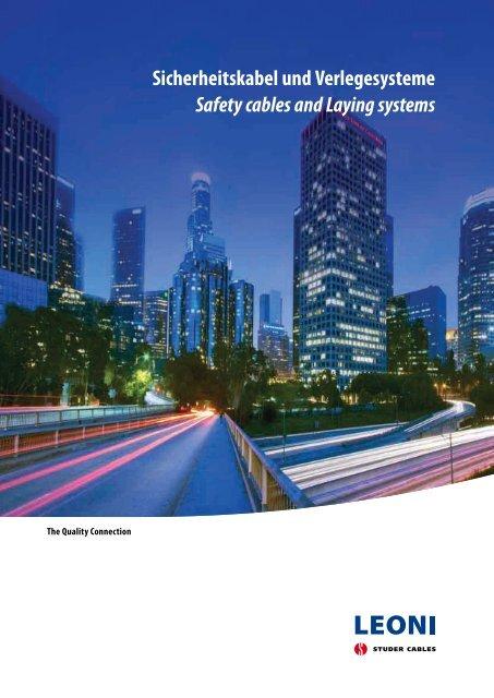 Sicherheitskabel und Verlegesysteme Safety cables and ... - Miltronic