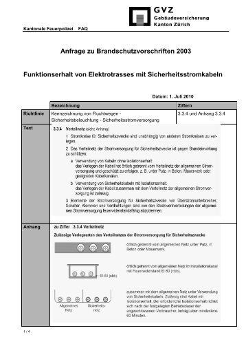 Ziffer 3.3.4 + Anh. Funktionserhalt von Elektrotrasses mit ... - GVZ