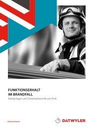 FUNKTIONSERHALT IM BRANDFALL - Dätwyler - Datwyler
