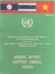 MRC Annual Report 1980 - Mekong River Commission