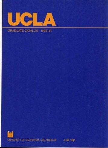 UCLA Graduate Catalog 1980-81 - Registrar - UCLA