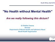 Plenary session day 1 - Department of Health
