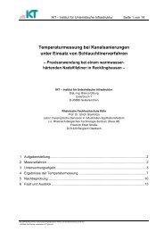 aktuelle Entwicklungen und Trends - Deutscher Schlauchlinertag
