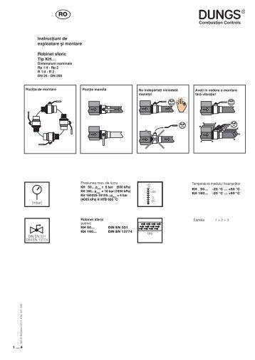 Instrucøiuni de exploatare µi montare Robinet sferic Tip KH… - Dungs