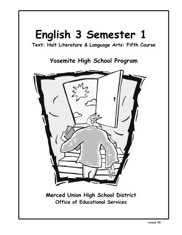 English 3 Final Exam Semester 1 Study Guide 2011-12