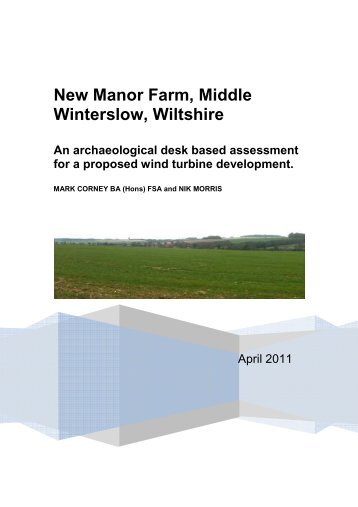 Additional Documentation - Planning Applications