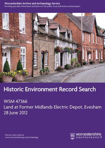 Historic Environment Record Search - Wychavon District Council