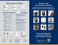Sensear and the Aviation Industry Brochure