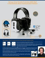 Sensear Smart Double Protection (SDP) - Tactical Headset Solutions