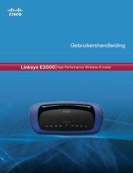 Linksys E3000 User Guide - Wehkamp.nl