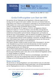 Noch Tage bis zur Ruder-WM 2007 in München. - Rudersport.com
