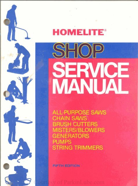 Homelite Repair Manual 5th edition pdf - ParkinLube
