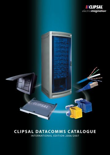 CLIPSAL DATACOMMS CATALOGUE - Schneider Electric