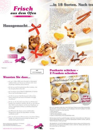 In der Region - Bäckerei-Conditorei Fleischli