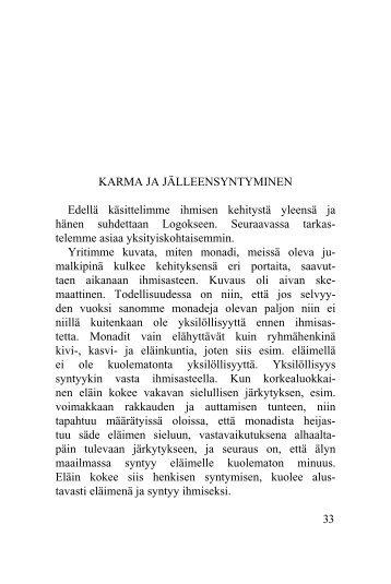Karma ja jälleensyntyminen - Kristosofia