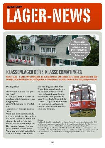Lagerzeitung (pdf - 3.8 MB) - Schule Ebmatingen