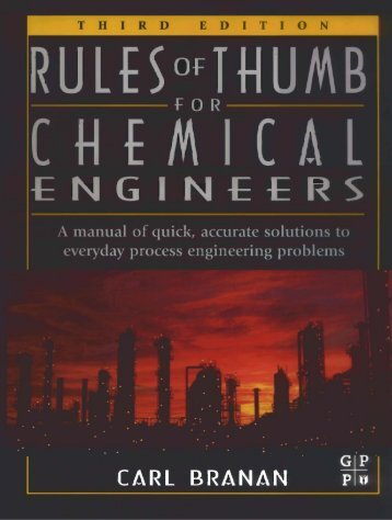 RULES OF THUMB FOR CHEMICAL ENGINEERS - CNTQ