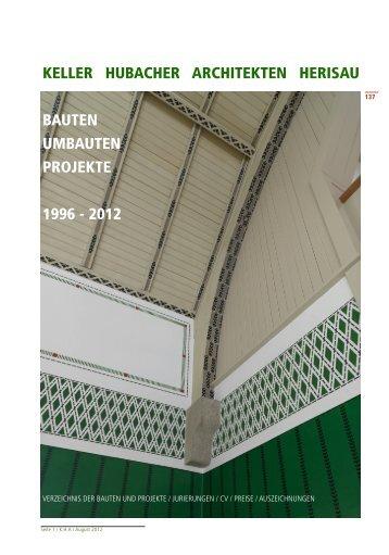Werkliste PDF 26.4 MB - Keller Hubacher Architekten