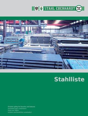 Stahlpreisliste 2011 - Stahl-Eberhardt