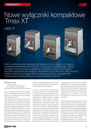 Nowe wyłączniki kompaktowe Tmax XT- część II - ABB