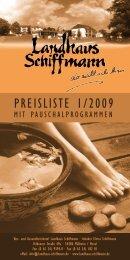 PrEISLIStE 1/2009 - Landhaus Schiffmann