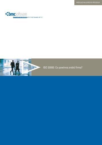 ISO 20000: Co powinna zrobić firma? - BMC Software