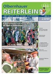 Ritterspektakel war am 20. und 21. April in Olbernhau - Druck- und ...